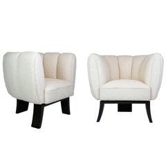 Pair of Guglielmo Ulrich 1930s Art Deco Club Chairs