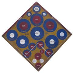 Baseball Darts Game Board with Golf on Reverse