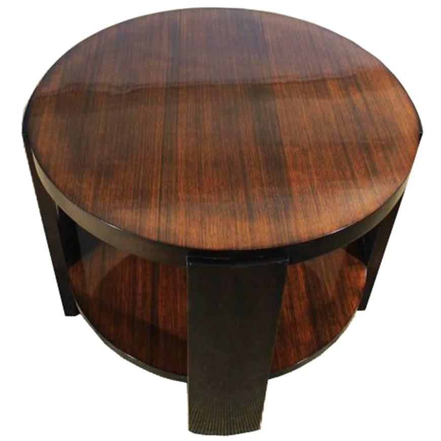 Zebrano and Mahogany Side Table from the Art Deco For Sale at 1stdibs