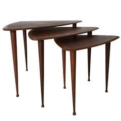 Danish Nesting Tables in the Manner of Poul Jensen for Selig, Denmark, 1960s
