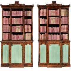 Pair of Antique Bookcases of the William IV Period