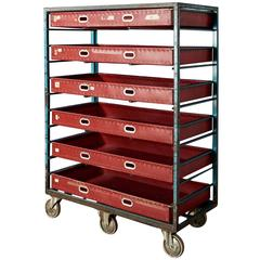Large Textile Factory Trolley