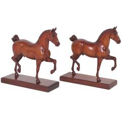 Two Peter Giba Horse Sculptures