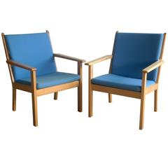 Pair of Vintage Hans Wegner GE284 Easy Chairs