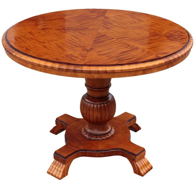 Swedish Art Deco Period Round Cocktail Or Coffee Pedestal Table For Sale At 1stdibs