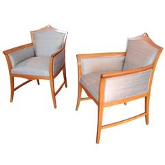 Pair of Swedish Jugendstil Period Tub Chairs