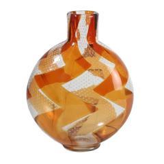 "Rare Intarsio Vase by Barovier & Toso, ""Zigzag"", 1963"