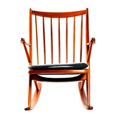 Rocking Chair 182 by Frank Reenskaug for Bramin