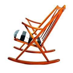 Rocking Chair 182 by Frank Reenskaug for Bramin Møbler