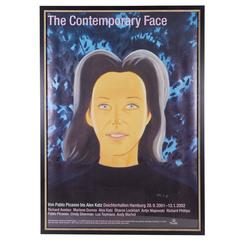 'The Contemporary Face' Exhibition Poster, Signed by Alex Katz