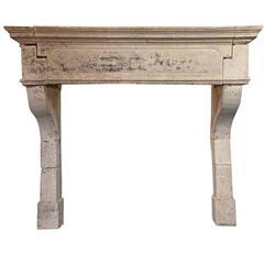 Louis XIII Limestone Mantel