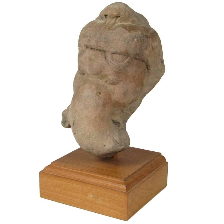 Indian possibly pakistan region carved sandstone head of for Chinese furniture in pakistan