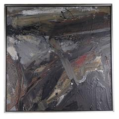 Large Danish Abstract Painting