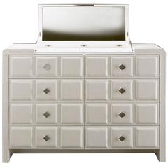Pragma Chest of Drawers with Hand Crafted Leather and Steel Details