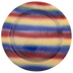 Early 20th Century Kuznetsov Ceramic Plate, Glazed with Spray Abstract Design