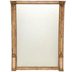 Early 19th Century Italian, Alabaster and Giltwood Neoclassical Mirror