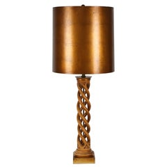 Frederick Cooper Studios Carved Helix Table Lamp, Circa 1950s