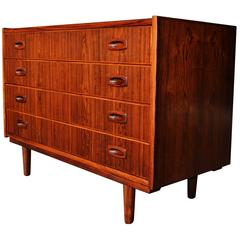 Lovely Rosewood Chest of Drawers or Dresser by Rasmussen