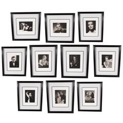 Set of Ten Framed and Documented Photographs of Hollywood Icons, George Hurrell