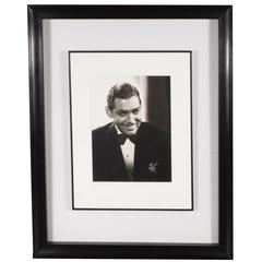 Framed and Original Documented Photograph of Clark Gable by George Hurrell