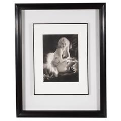 Framed and Original Documented Photograph of Jean Harlow by George Hurrell