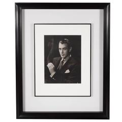 Framed and Original Documented Photograph of Gary Cooper by George Hurrell