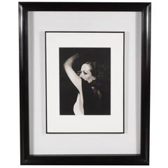 Framed and Original Documented Photograph of Joan Crawford by George Hurrell