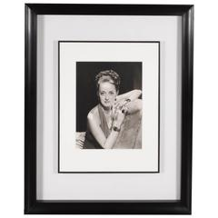 Framed and Documented Original Photograph of Bette Davis by George Hurrell