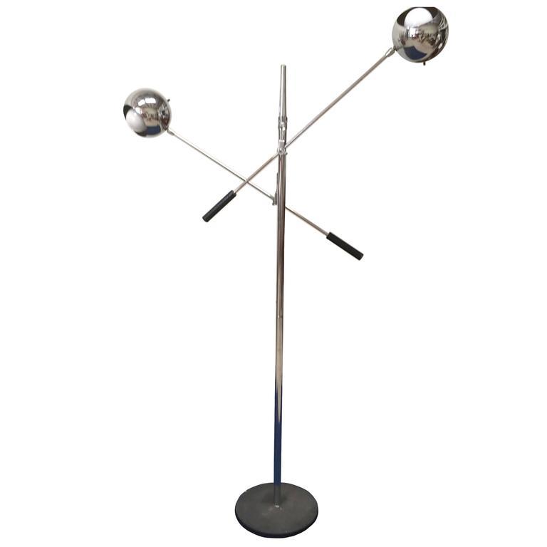Two-Armed Italian Floor Lamp in the Style of Arredoluce