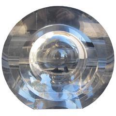 """Innerspace Circle,"" circa 2002, Signed Sensa Peace, Acrylic"