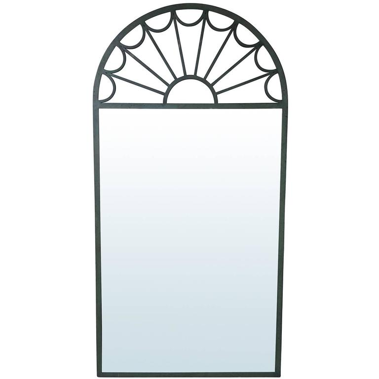 20th Century Large Palladian Iron Mirror in the Style of Mastercraft