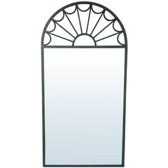 20th Century Large Palladian Iron Mirror in the Style of Mastercraft