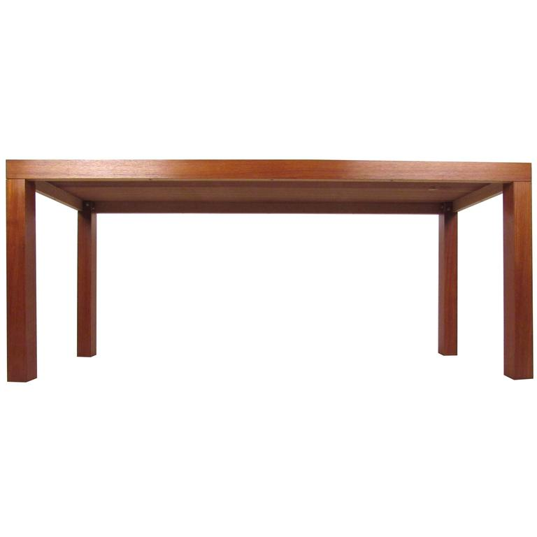 mid century modern style natural wood finish console table for sale at 1stdibs. Black Bedroom Furniture Sets. Home Design Ideas