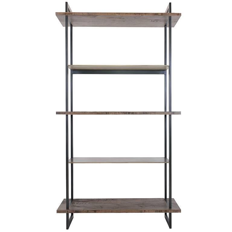 Gotham Bookcase - Customizable Wood and Metal