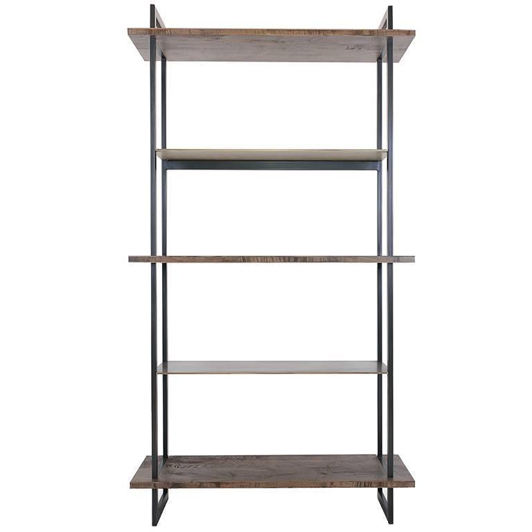 Gotham Bookcase Customizable Wood and Metal For Sale at