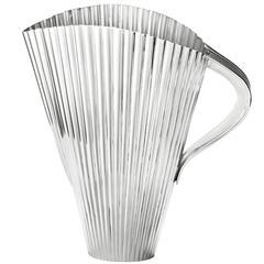 Austrian Silver 1950 Oswald Haerdtl Fan Pitcher