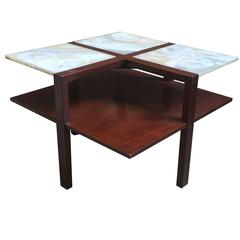 Edmund Spence Moderne Onyx and Mahogany Table