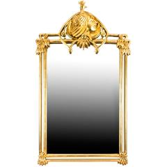 Beautiful French Art Nouveau Style Giltwood Mirror 121 x 71cm