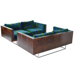 Pair of Milo Baughman Rosewood Settees