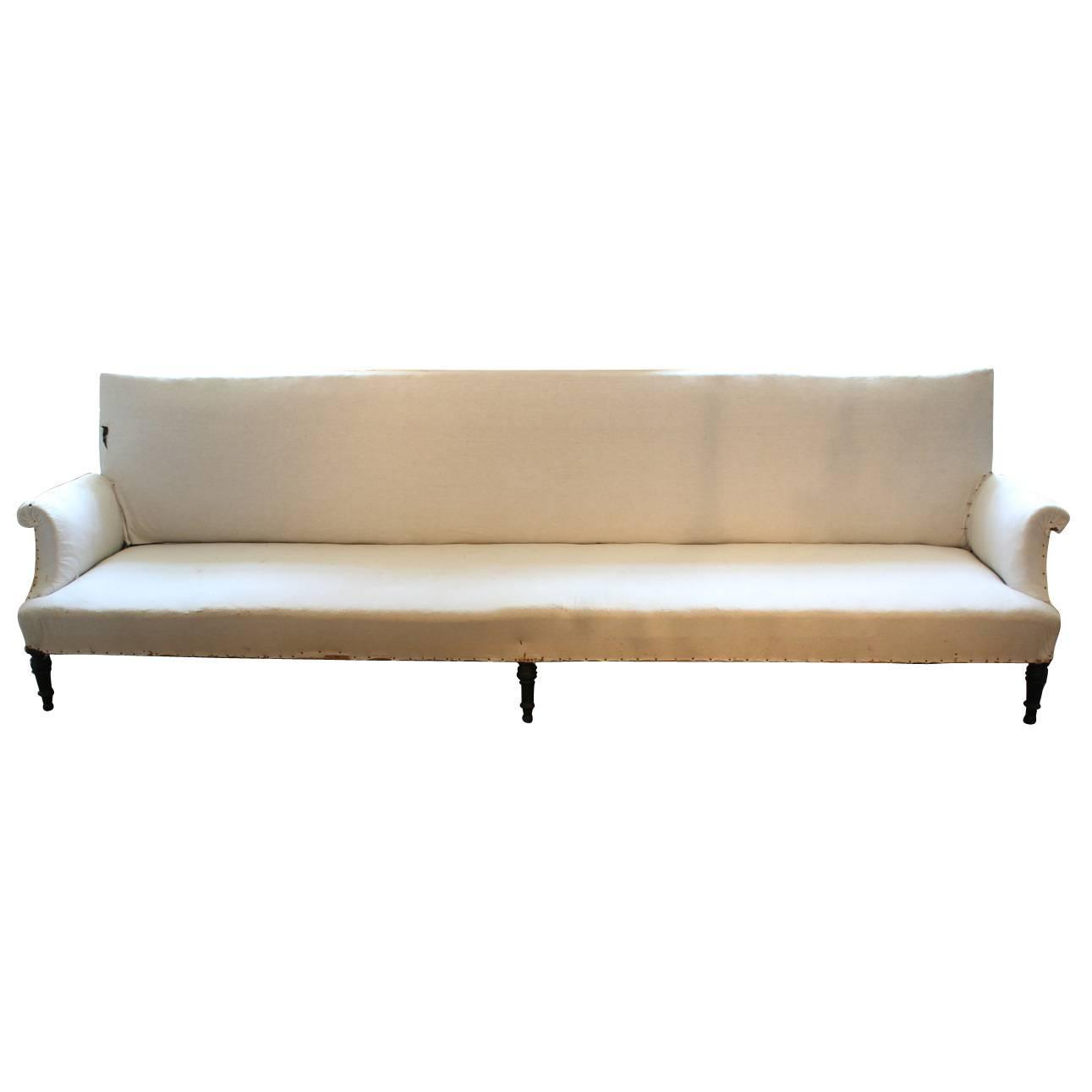 very large 19th century french napoleon iii sofa at 1stdibs. Black Bedroom Furniture Sets. Home Design Ideas