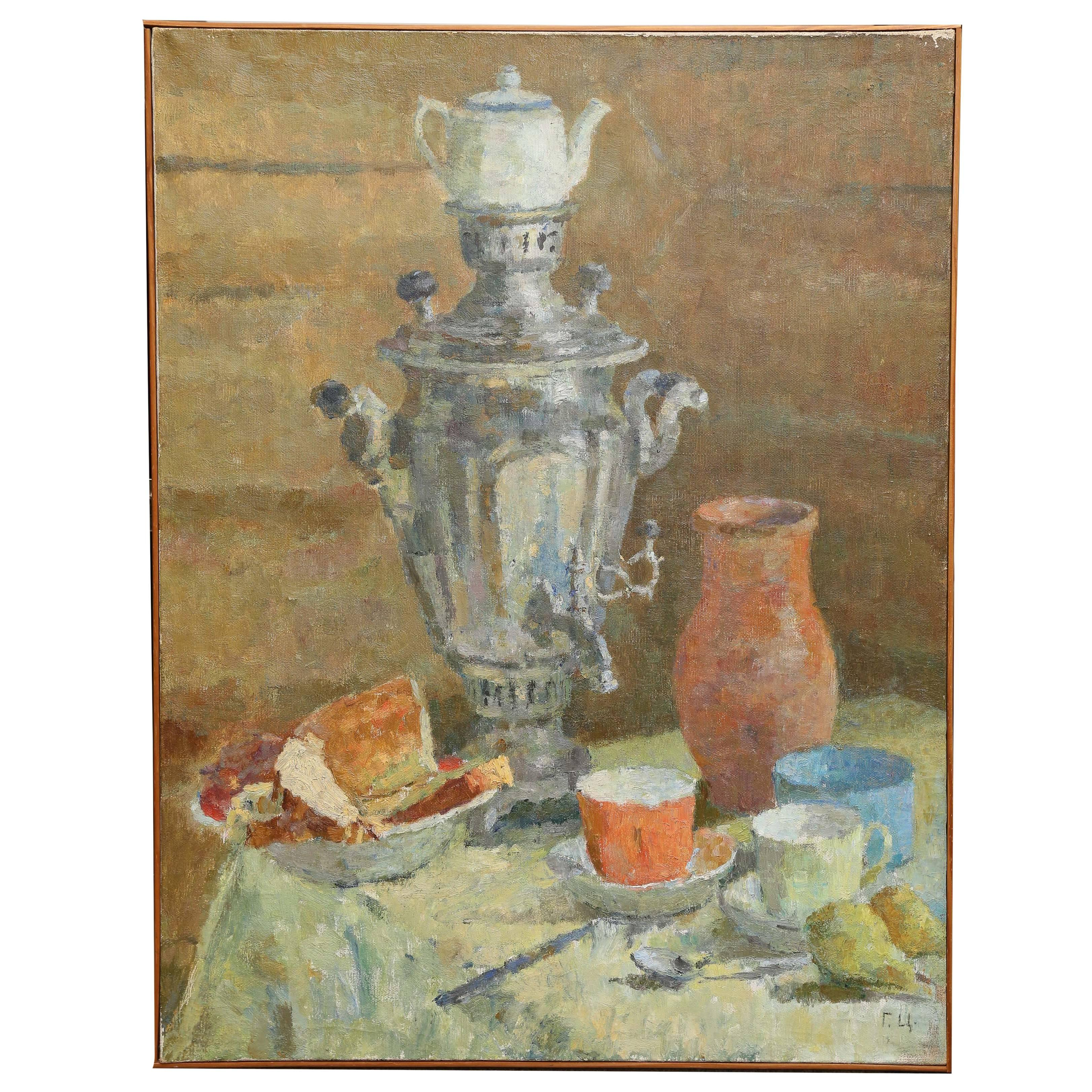 Painting in the Manner of Vladimir Yatsenko, Russian/Soviet Artist
