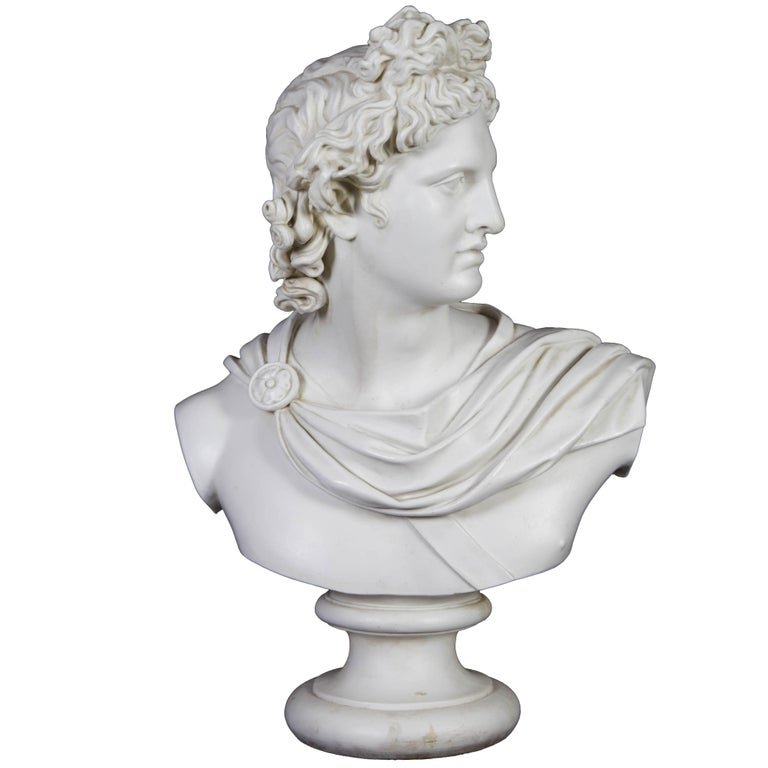 Bust of Apollo Belvedere, mid-19th century, offered by Alexander's Antiques
