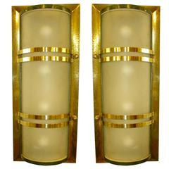 French Art Deco Movie Theater Sconces