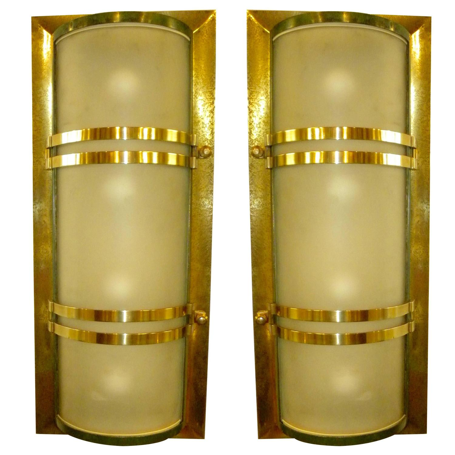 French Art Deco Movie Theater Sconces at 1stdibs