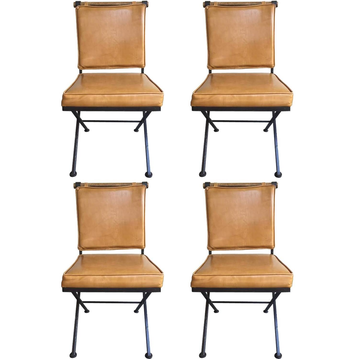 Set of Four Cleo Baldon Style Mid Century Modern Chairs for Inca