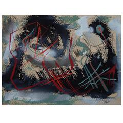 Rolph Scarlett Abstract Expressionist Painting, 1945