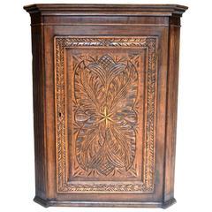 19th Century Hanging Corner Cabinet