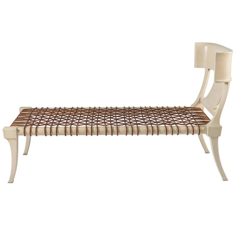 Rare T.H. Robsjohn-Gibbings Chaise Lounge for Saridis of Athens 1