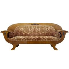 19th Century Biedermeier Birch Sofa