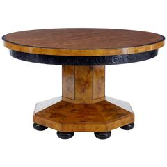 Unusual Pine Art Deco Center Occasional Table